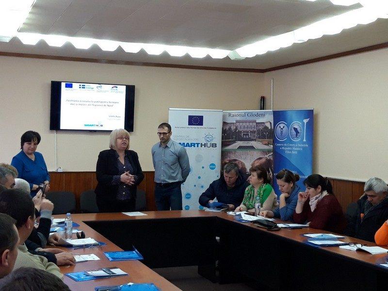 Antreprenorii din Glodeni informați despre sursele de finanțare