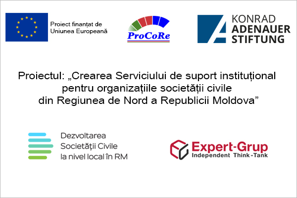 "The project ""Creation of the Institutional Support Service for CSOs in the Northern Region of the Republic of Moldova."""