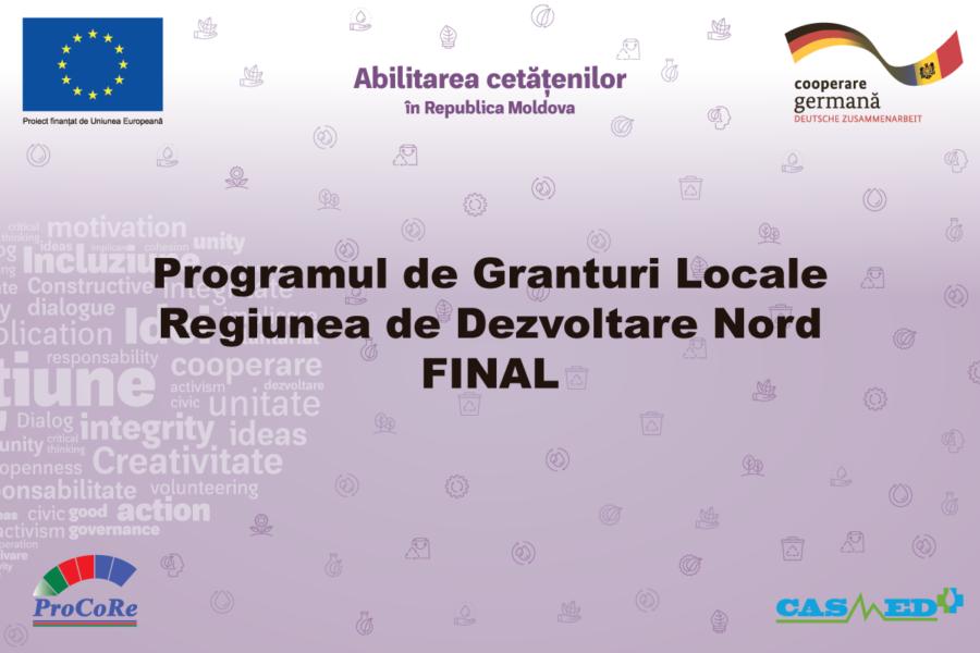 UE-GIZ // Programul de Granturi Locale RDNord – Lista finaliștilor