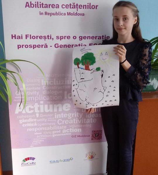 """(Română) Concurs de postere """"Oferă-te voluntar ECO – Schimbă ceva!"""" – Rădulenii Vechi"""