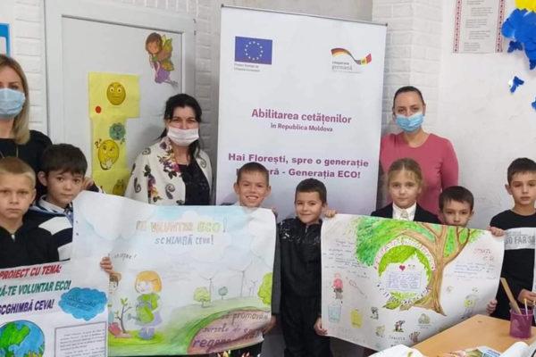 """Concurs de postere """"Oferă-te voluntar ECO – Schimbă ceva!"""" – Școala Primară din orașul Florești"""