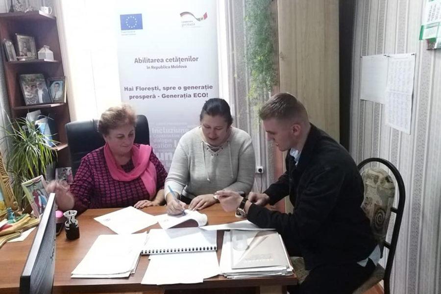 """Semnarea acordurilor de colaborare în cadrul proiectului ,,Hai Florești, spre o generație prosperă – Generația ECO"""""""