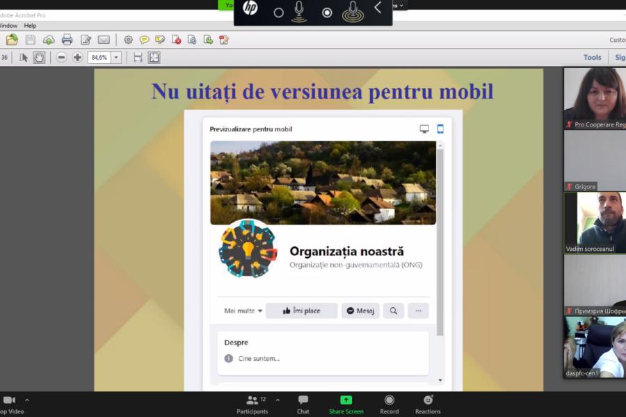 Ajutăm organizațiile societătii civile să devină mai vizibile