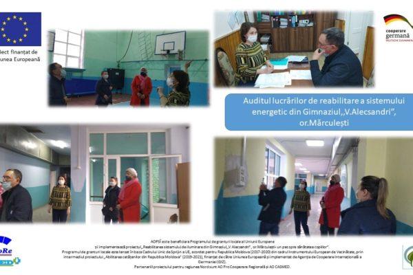 (Română) Auditul lucrărilor de reabilitare a sistemului energetic – AO APSI